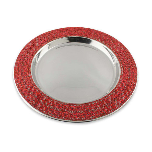Madison Avenue Charger Plate - Red by Sparkles Home