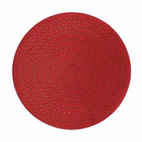 Madison Avenue Round Placemat - Red by Sparkles Home