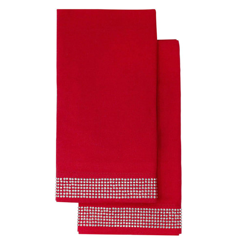 Napkin (Set of 2) - Red by Sparkles Home