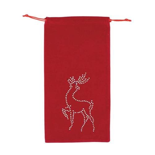 Reindeer Wine Bag - Red by Sparkles Home