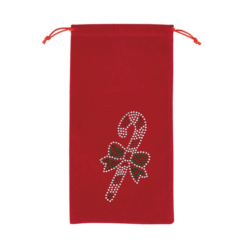 Candy Cane Wine Bag - Red by Sparkles Home