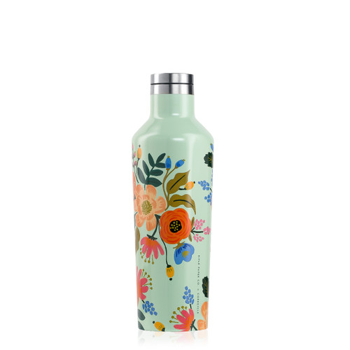 Rifle Paper Canteen 16 oz. Gloss Mint - Lively Floral by Corkcicle