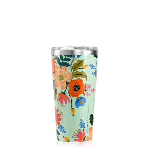 Rifle Paper Tumbler 16 oz. Gloss Mint - Lively Floral by Corkcicle