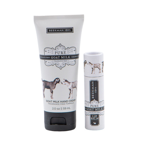 Pure Goat Milk Hand Cream and Lip Balm Set by Beekman 1802