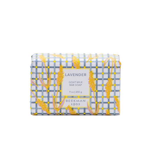Lavender 9 oz.  Goat Milk Bar Soap by Beekman 1802