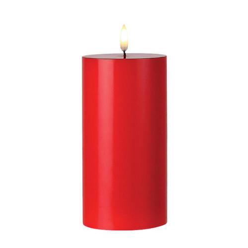"LED Red 6"" Pillar Candle by Burton+Burton"