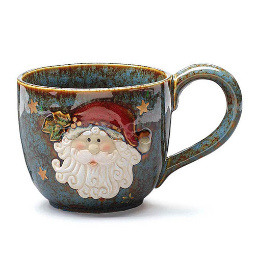 30 oz. Rustic Santa Soup Mug