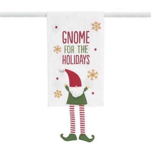 Gnome for the Holiday Tea Towel by Burton+Burton