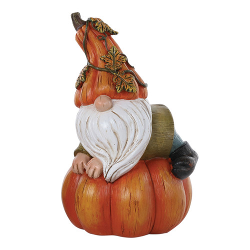 Lounging Pumpkin Gnome by Special T Imports