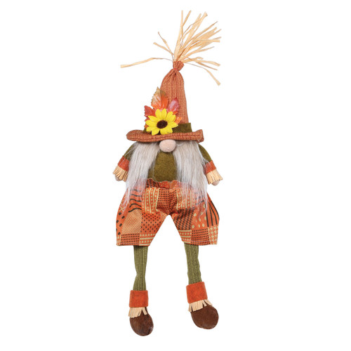 Fall Gnome Shelf Sitter by Special T Imports | Orange
