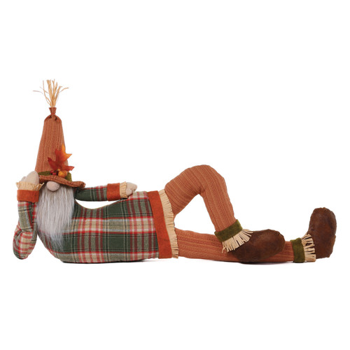 Lounging Gnome Draft Dodger by Special T Imports | Orange