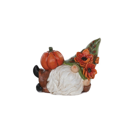 Lounging Pumpkin Gnome Figurine by Special T Imports