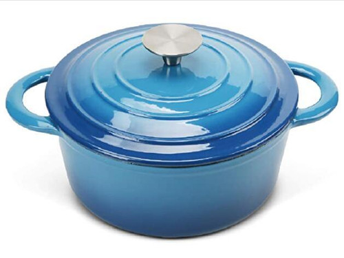 COOKWIN Enameled Cast Iron Dutch Oven with Self Basting Lid, Non-stick Enamel Coated Cookware Pot(D0102HP94X7.)
