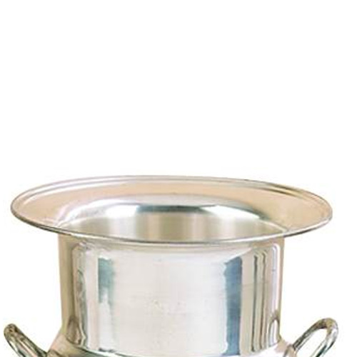 Brass Wine Bucket With Two Side Handles In Traditional Style, Silver