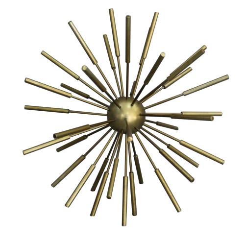 DunaWest 10 Inch Metal Decor Spike Decorative Sputnik with Pipe Ends, Brass