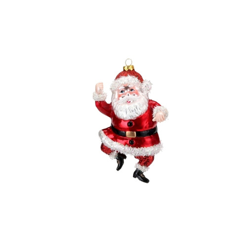 Bright Red Santa Ornament by One Hundred 80 Degrees