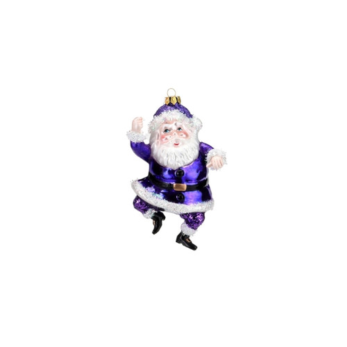 Bright Purple Santa Ornament by One Hundred 80 Degrees