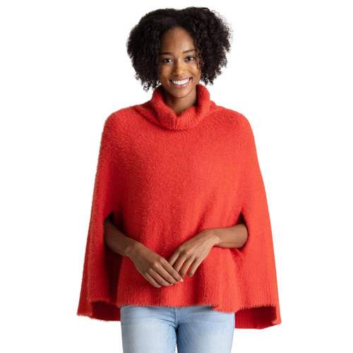 Red Chalet Poncho by Mer-Sea