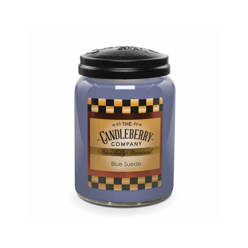 Large Jar Blue Suede 26 oz by Candleberry