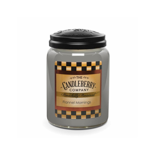 Large Jar Flannel Mornings 26 oz by Candleberry