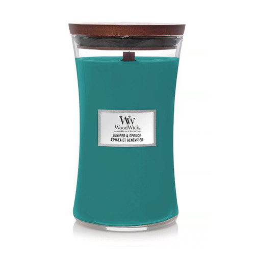 Juniper & Spruce Large Hourglass by Woodwick Candles