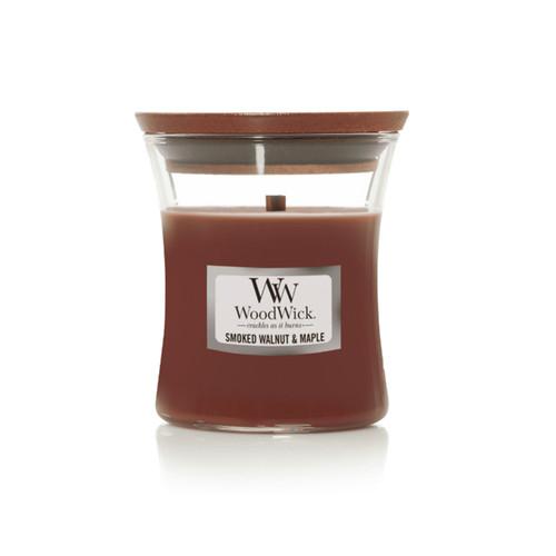 Smoked Walnut & Maple WoodWick Medium Hourglass Candle