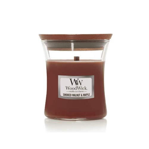 Smoked Walnut & Maple Mini Hourglass by Woodwick Candles