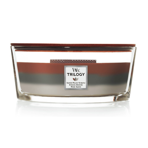 Autumn Embers WoodWick Trilogy Ellipse with Hearthwick