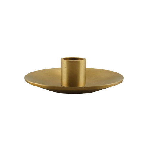 Gold Simplicity Taper Holder by Northern Lights Candles