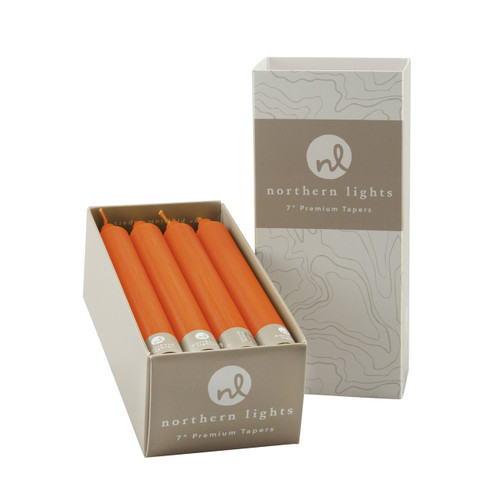 """12-Piece 7"""" Goldfish Taper Set by Northern Lights Candles"""