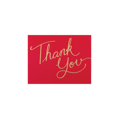 Merry Christmas Script Notecard-Boxed-Thank You by Design Design
