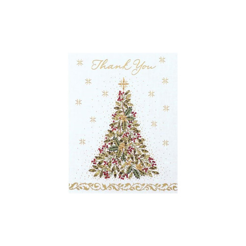 Golden Filigree Tree Notecard-Boxed-Thank You by Design Design