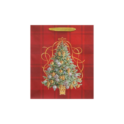 Golden Tannenbaum Tote Bag-Large by Design Design