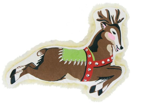 Large Canvas Reindeer Dog Toy by Harry Barker