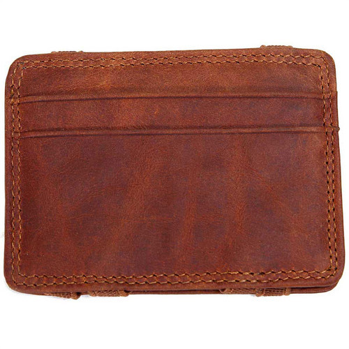 Brown Men's Leather Flip Wallet by Mad Man