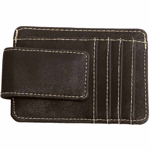 Brown Money Clip With Card Slots And Billholder by Mad Man