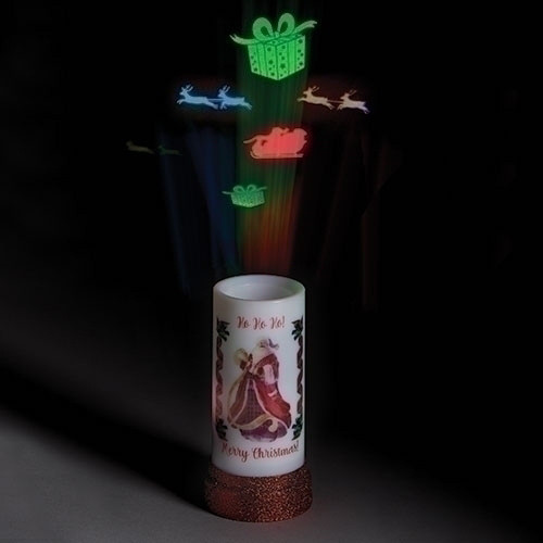 Lighted  Santa Candle Projector by Roman