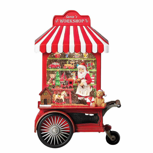 Lighted Swirl Toy Shop Cart by Roman