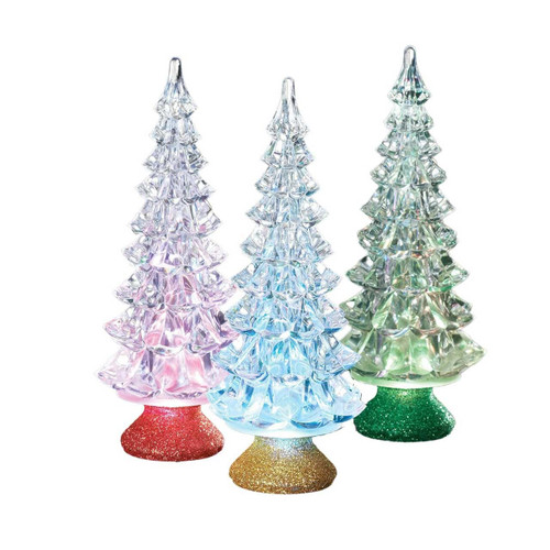 """Gold 6.5"""" Lighted Tri-Color Tree by Roman"""