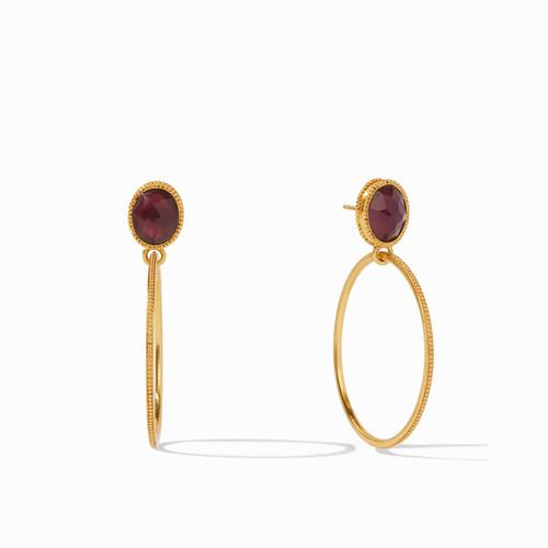Julie Vos Verona Statement Earrings - Gold Iridescent Bordeaux