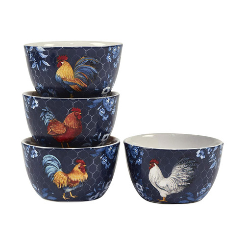 """Indigo Rooster 5.25""""x3"""" Ice Cream Bowl by Certified International"""