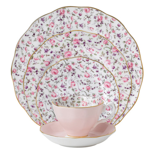 Rose Confetti 5-Piece Place Setting by Royal Albert