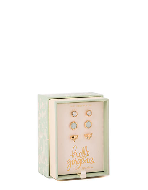 Hello Gorgeous Oh So Witty Earring Box Set by Spartina 449