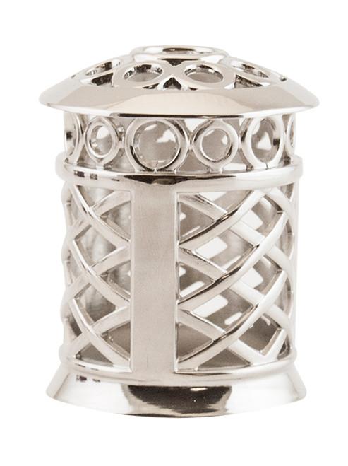Silver Ornate Trellis Decorative Crown