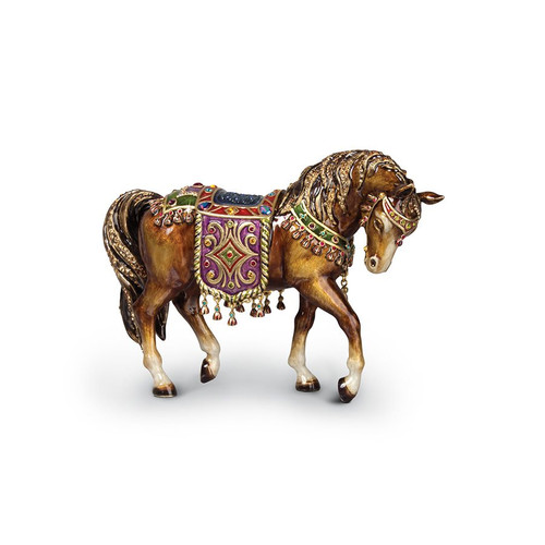 Jay Strongwater Tapestry Horse Figurine - Jewel - Special Order