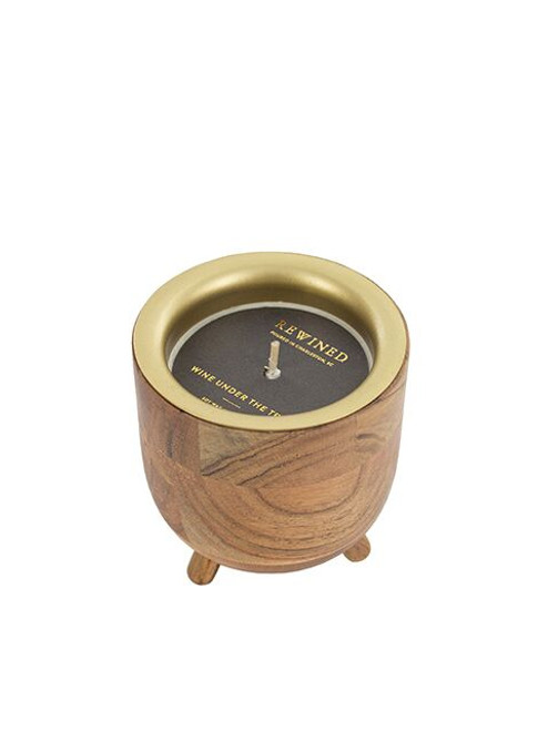 Wine Under the Tree  Barrel Aged Rewined Candle - 7 oz.