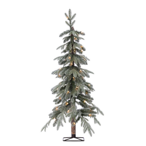 Natural Cut Flocked 4 ft. Alpine Tree by Sterling Tree