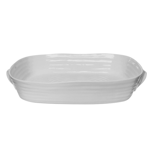 Sophie Conran Grey Large Handled Rectangular Roasting Dish by Portmeirion - Special Order
