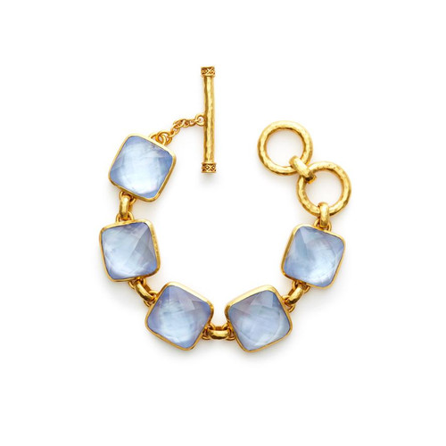 Julie Vos Catalina Gold Bracelet -Irridescent Chalcedony