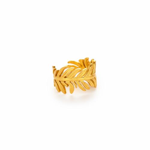 Julie Vos Fern One Size Ring-Gold